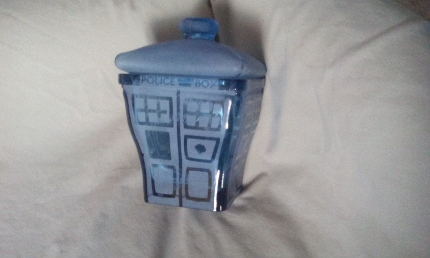 Tardis tim burton esk dr who cookie jar wibbly by whyteravenstudio - Tardis cookie jar ...