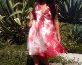 Silk Mini Dress// Garnet Rose Dress// Hand Dyed// One of a Kind Mini Dress