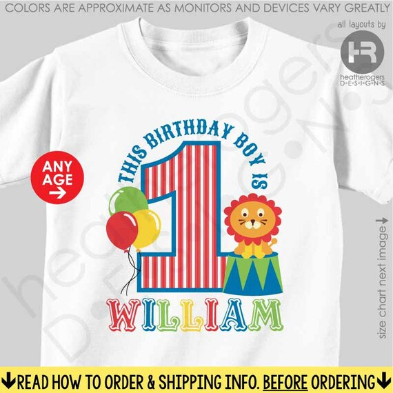 Circus Birthday Shirt or Bodysuit - Made for ANY AGE - Personalized Carnival Birthday Shirt