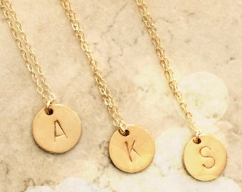 Gold Initial Necklace Pendant Necklace Personalized Necklace Jewelry Initial Jewelry Necklace Jewelry Personalized Necklace Limonbijoux