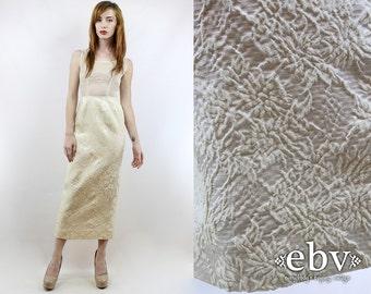 Vintage 50s 60s Cream Sheer Wedding Dress XS 50s Cocktail Dress 50s Dress 1950s Dress 50s Wedding Dress 60s Wedding Dress Bombshell Dress