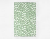 Green Patterned Tea Towel - Kitchen Linens - Modern Hostess Gift