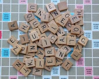 Vintage Scrabble Tiles 10 Scrabble Tiles Choose Your Letters, Altered Art Supply Scrabble Letters