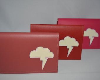 Vinyl Billfold Wallet With Lightning Bolt Cloud