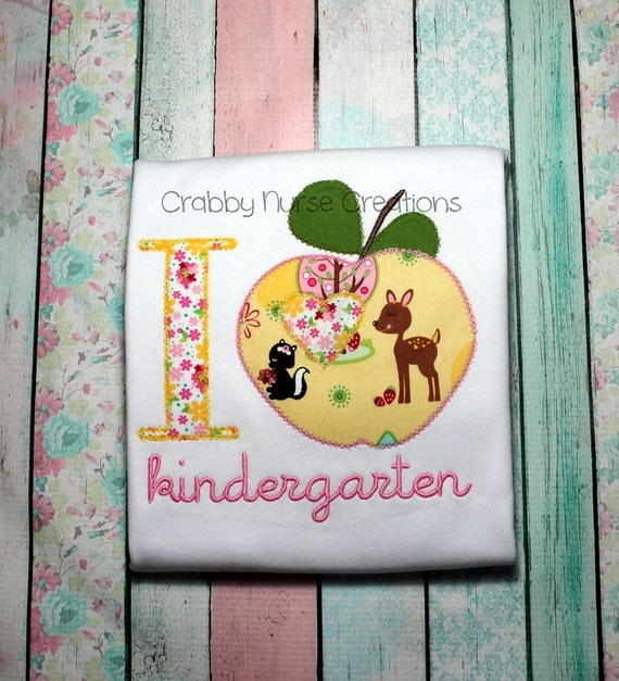 I Heart Kindergarten T-Shirt     (I Heart Pre-K through Grade 5 also available)