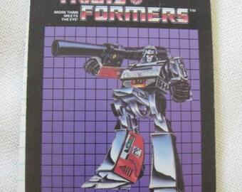 Vintage 1984 Transformers Memo Notebook