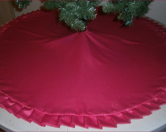 """Christmas Tree Skirt ~ 56"""" ~ Hot Pink Sparkly"""