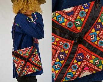Vintage Ethnic Jeweled Bohemian Crossbody Purse