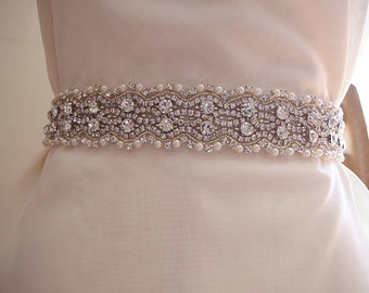 rhinestone sash belt, bridal sash belt, wedding sash belt