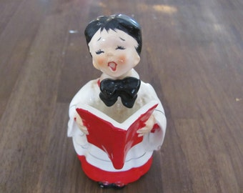 Vintage Porcelain Choir Boy Christmas Decor Numbered F124