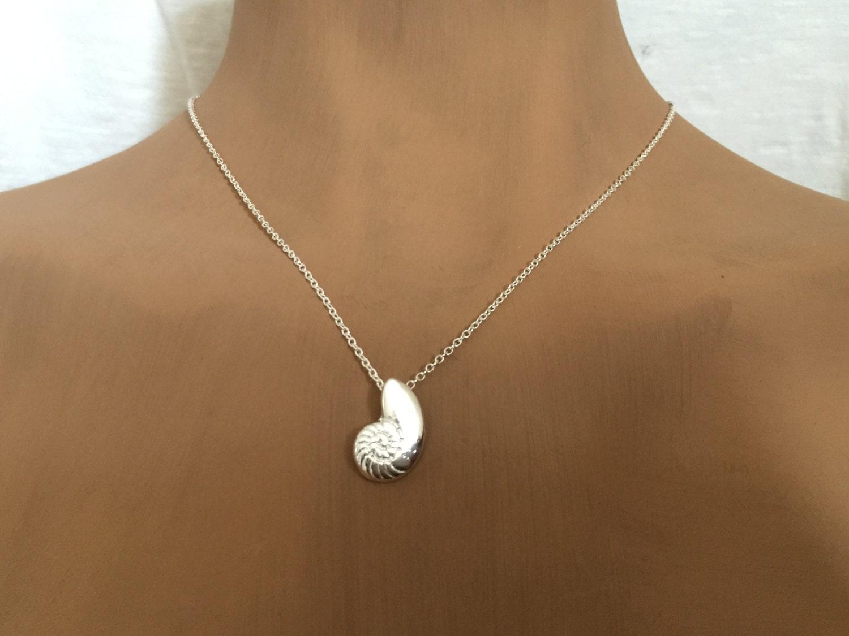 silver ariel shell necklace ariel seashellvoice