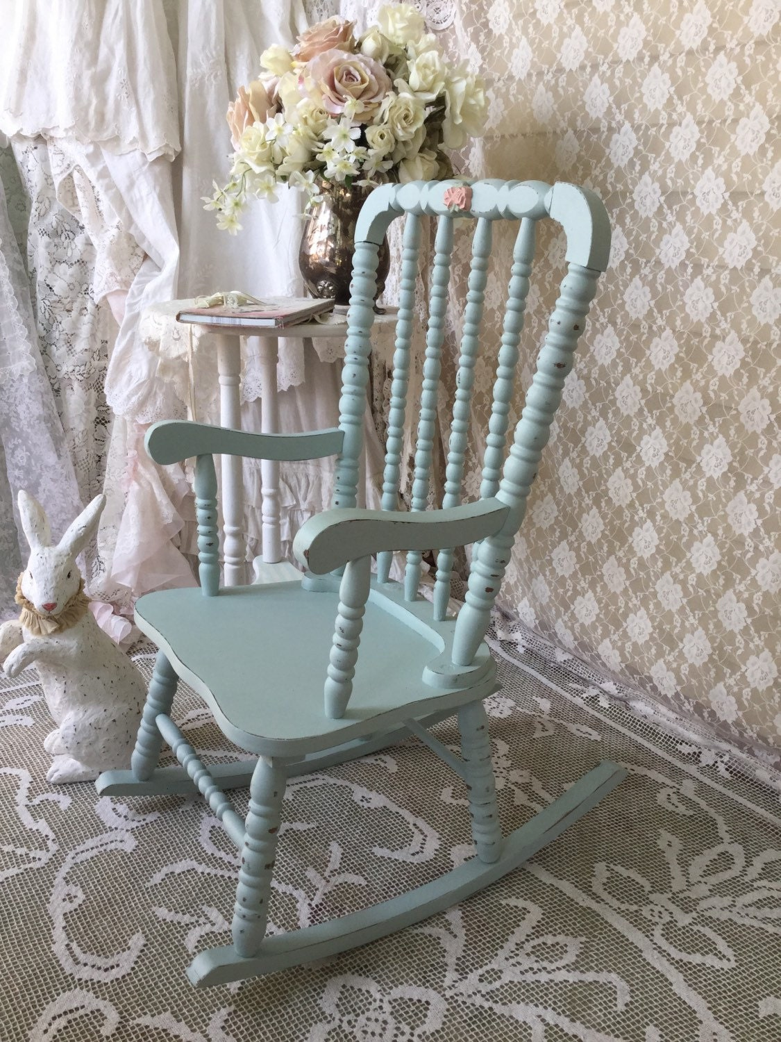 Shabby Vintage Jenny Lind Rocking Chair Children S