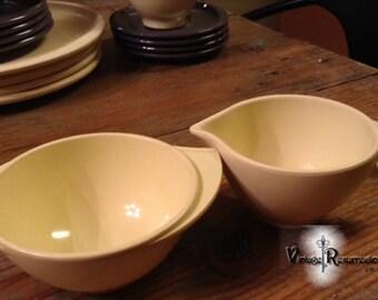 Boontonware Creamer and Sugar Bowl