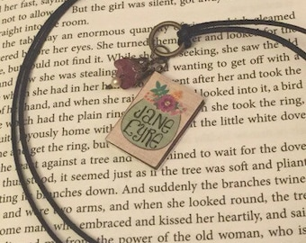 Jane Eyre Charm Pendant Necklace Charlotte Brontë