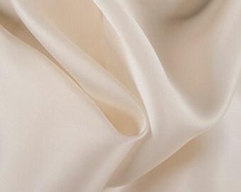 "54"" Wide 100% Silk Satin Organza Soft Yellow by the yard"