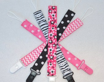 Pacifier Clips Select Your Print(s) - Fashionista