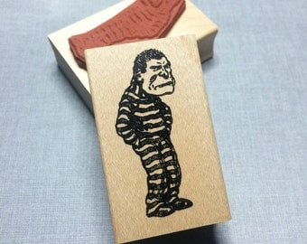 Bad Guy Rubber Stamp