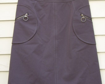 Vintage Prada Slate Gray skirt with circular side pockets must see. ON SALE