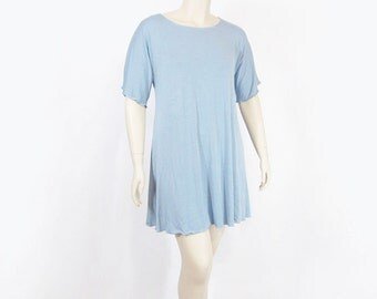 Womens Nightgown-Sleepshirt-Eco Friendly, Organic Cotton/Bamboo or Beechtree Jersey -Made to Order- Custom Size/Color-XXS through Plus Size