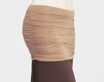 Plus Size Yoga Skirt to Create Skirted Yoga Pants-Layer Over Pants-Ruched Yoga Skirt-Hand Dyed Bamboo/Organic Cotton-XL,2X,3X,4X,5X,6X,7X,8X