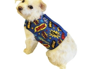 Comics Dog Harness-Custom Dog Harness-Dog Clothes-Dog Harnesses-Dog Vest-Clothes for Dogs-Harnesses for Dogs-Dog Coat-Dog Jacket