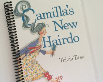 Hair Stylist Camilla's New Hairdo Book Journal Upcycled Book