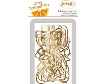 Amy Tangerine Stitched - Shaped Paper Clips -- MSRP 6.00