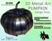 Metal Art Pumpkin, Large Size by Brown-Donkey Designs