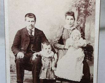 Antique Photograph of a Family