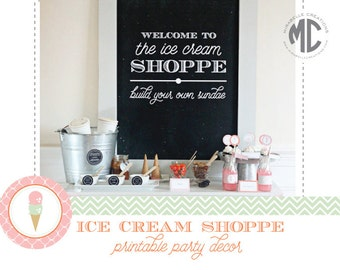 Ice Cream Digital Printable Party Collection - Mirabelle Creations