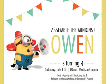 Minion Birthday Invitation ~ DIGITAL