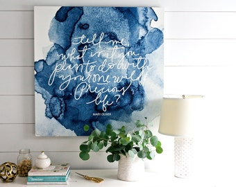 Mary Oliver WILD and FREE Canvas