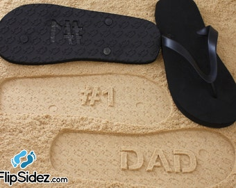 Father's Day Gift - Personalized Custom Sand Imprint Flip Flops *check size chart before ordering*