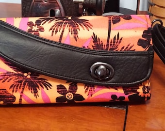 Tropical Paradise  Wallet, Orange, Pink and Black, NCW