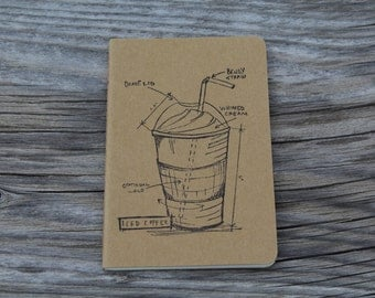 Mini Coffee Lovers Iced Coffee Journal Pocket Note Pad
