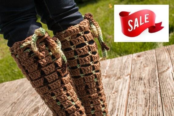 SALE Leg Warmers, Cafe and Amazon Print