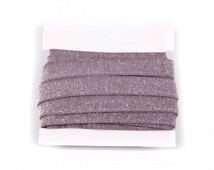 FROSTED 5/8th inch Stretch Glitter Elastic for Baby Headbands - 5 or 10 yards - Charcoal