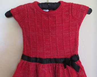 Sale 50% off   1990's baby girl sweater dress 24 months