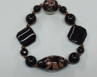 Black lampworked bracelet.