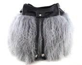 1 LEFT! KeKe Mongolian Fur & Leather Bucket Bag | Fur Bag | Shoulder Bag | Crossbody | Cowhide Leather | Tibetan | Handmade