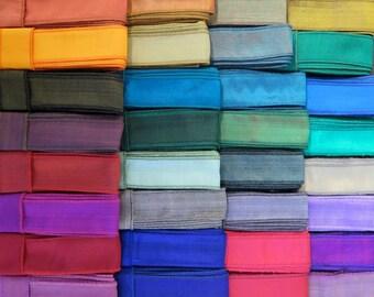 48 yards of Silk Bracelet Ribbon, Hand Dyed Silk, Wrap Bracelet, Gift Wrapping,  B34