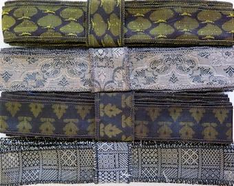 Black and Gold Sari Ribbon, A84