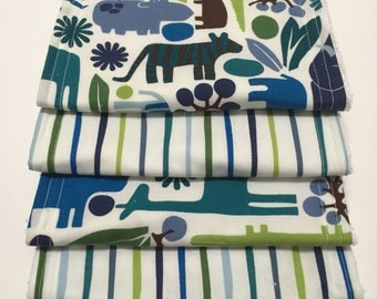 Blue Zoo Burp Cloths (Set of 4)