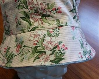 Girls Reversible Denim Bucket Hat