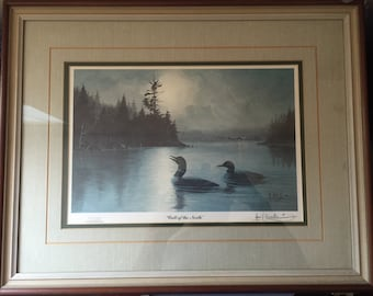 "LES C KOUBA ""Call of the North"" signed, framed and numbered Limited Edition,print 81/2500, very good condition"
