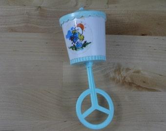 Vintage 1983 Smurfs Baby Rattle