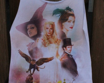 Oz The Great and Powerful Medium Upcycled Tshirt Bag / Project Bag / Sleepover Bag