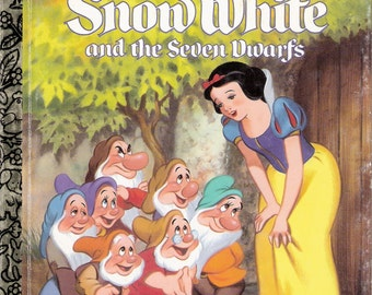 Walt Disney's Snow White and the Seven Dwarfs Vintage Children's Little Golden Book Illustrated by Bill Lorencz