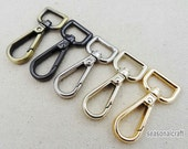10Pcs 15mm Inner Size High Quantity Lobster Clasps Silver Brass GunBlack Gold Smaller Swivel Lobster Clasps - For Craft Bag Purse T217