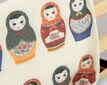 Cotton Fabric Russian Doll Matryoshka Doll Digital Polyester Cotton Fabric (QT362)
